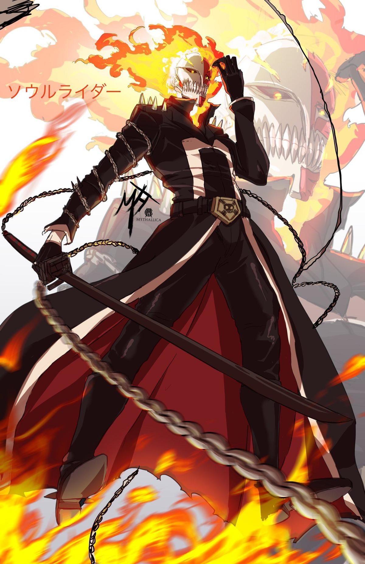 Ghost Rider Ichigo. .. I'm ready for Bleach TYBW