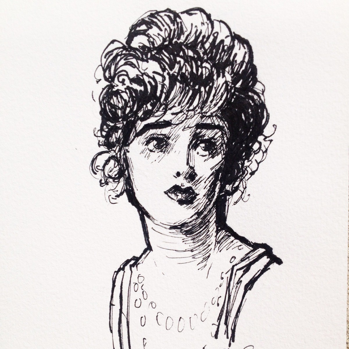 Gibson Girl Study. Another Gibson study. join list: WatercolorAndOrInk (43 subs)Mention History Lmk in the comments if you have and critiques on this piece. &lt