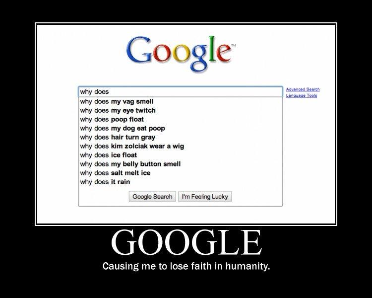 """Google. yea...... """"why does salt MELT ice?"""" facepalm"""