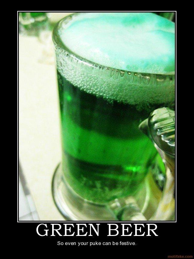 GREEN BEER. .. or pee