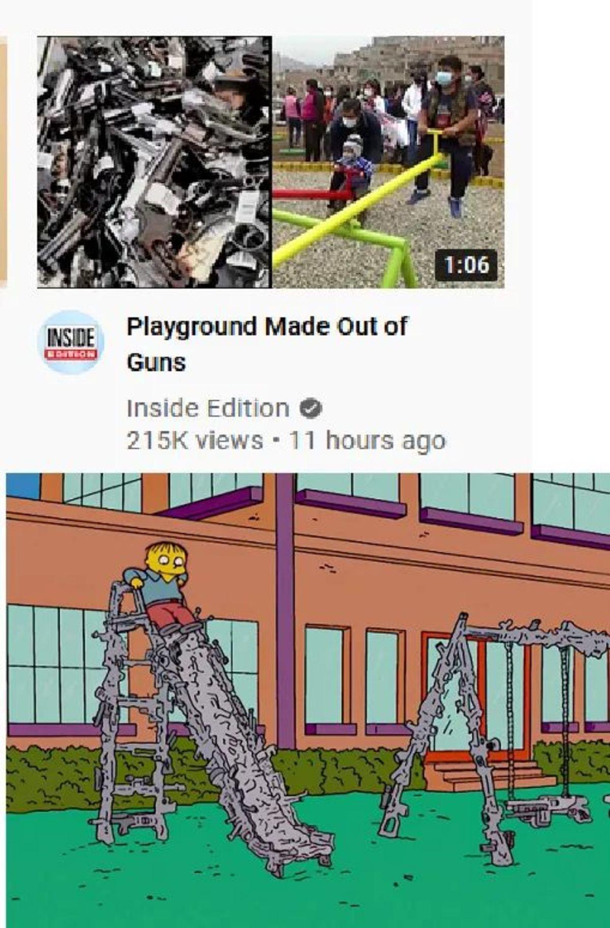 guns. .. What's Alec Baldwin doing at a children's playground?