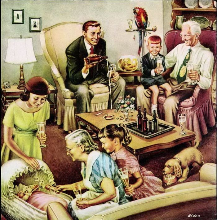 Happy Thanksgiving!. .. the funny thing is evryone 1 is drinin wine eve kids and dog and baby