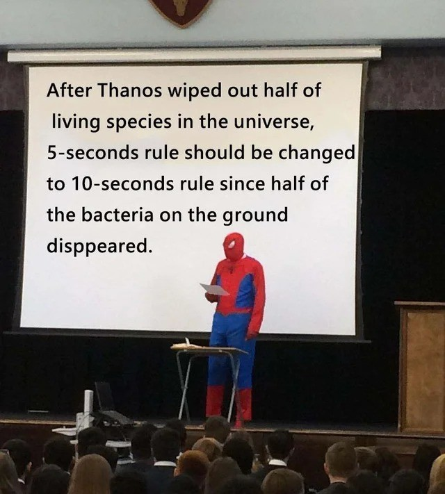 He has a point. join list: MarvelStuff (205 subs)Mention History.. I don't think that's how it works, but whatever. I trust you, Spider-Man.