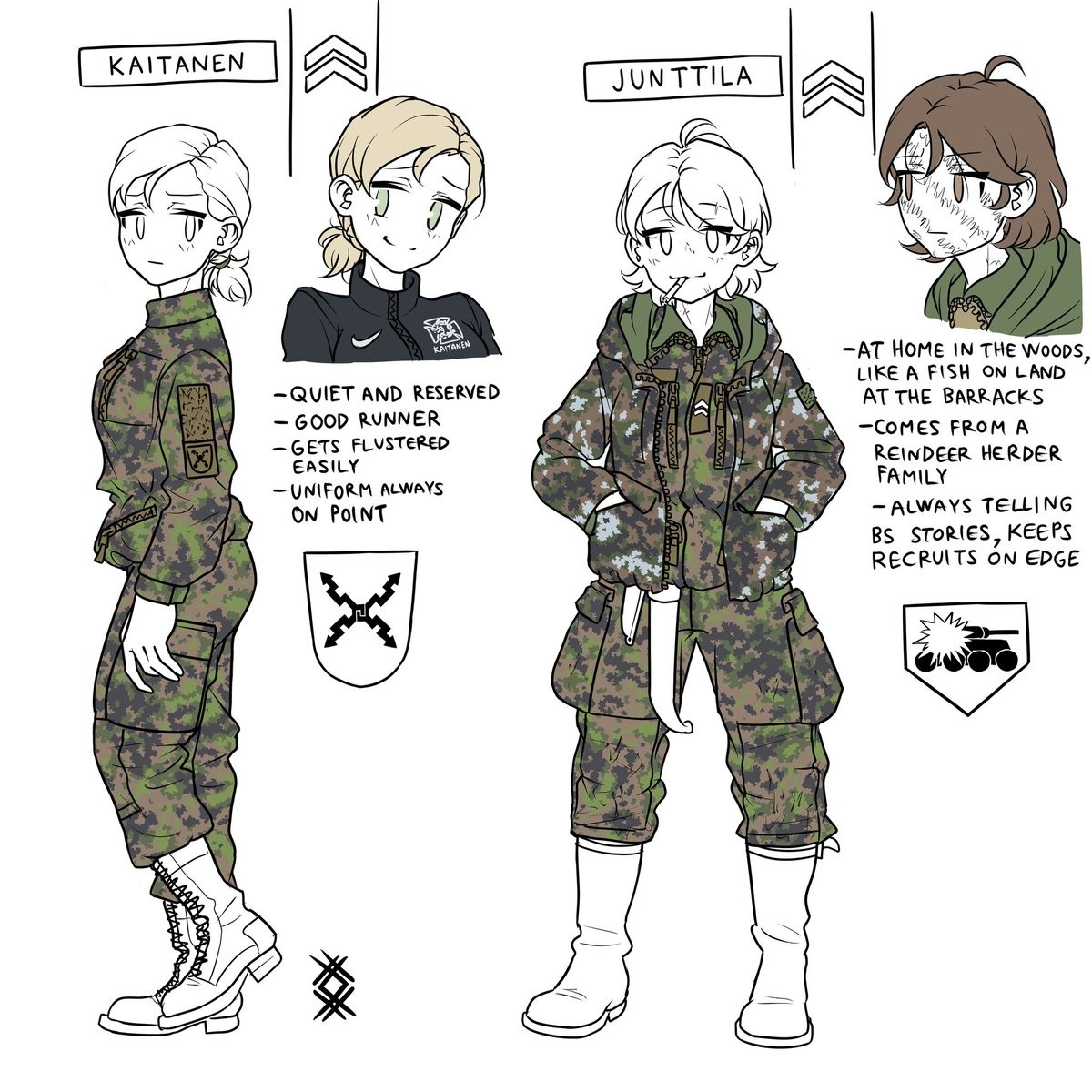 He made OCs. Not sure if belongs in tacti chan as there are no guns ..