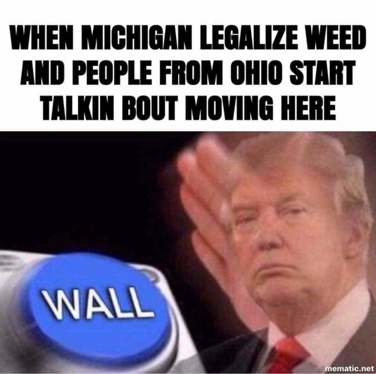 Hey I live in Michigan. .. I'm not big into Michigan(as on Ohioan), and I'm not big into weed. But I expect that a couple of friends and I may take a trip a couple minutes north for fun a