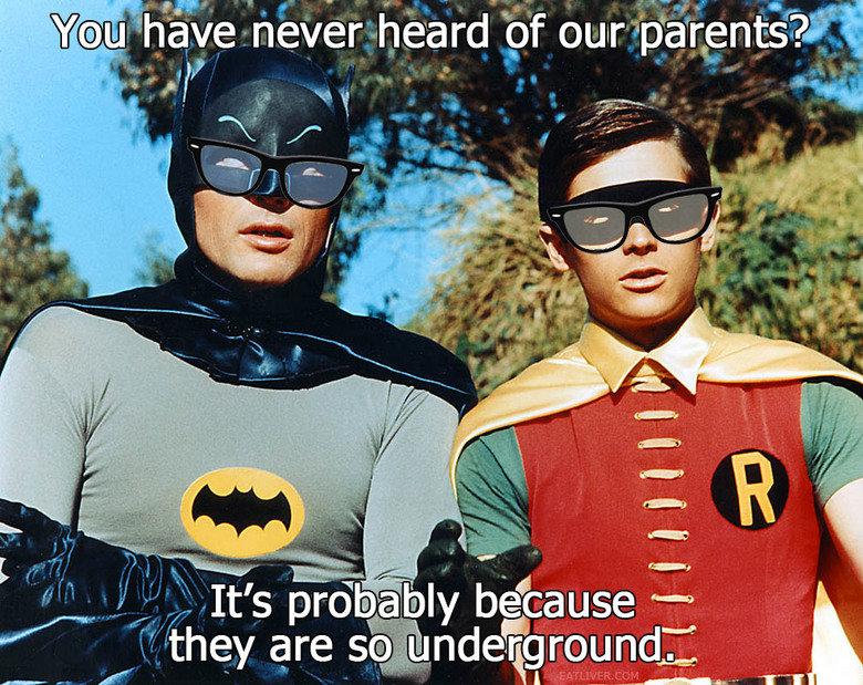 Hipster Batman an d Robin. lol. viii. 6 Feet Underground!