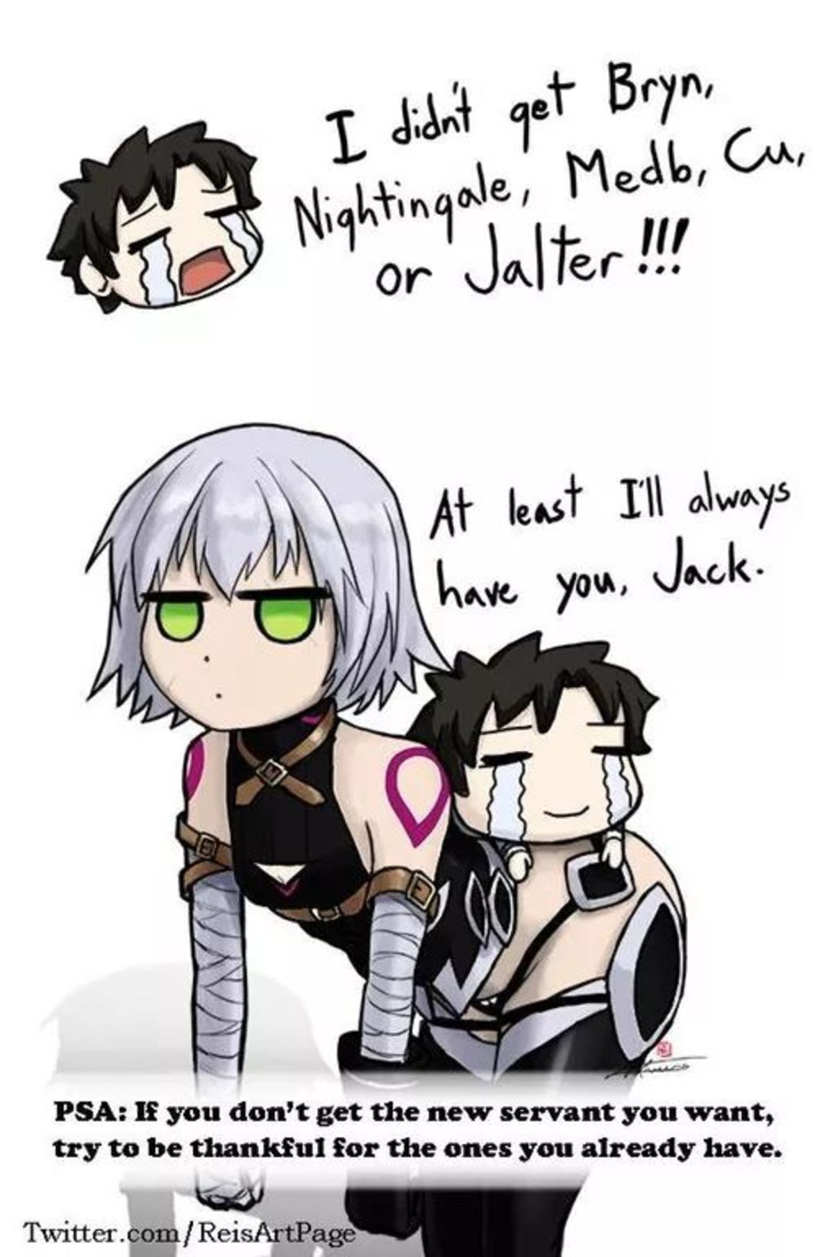 I Don't Have Jack Either.... join list: Lewds4DHeart (1610 subs)Mention History join list:. I got hercules and waver from my failed jalter rolls