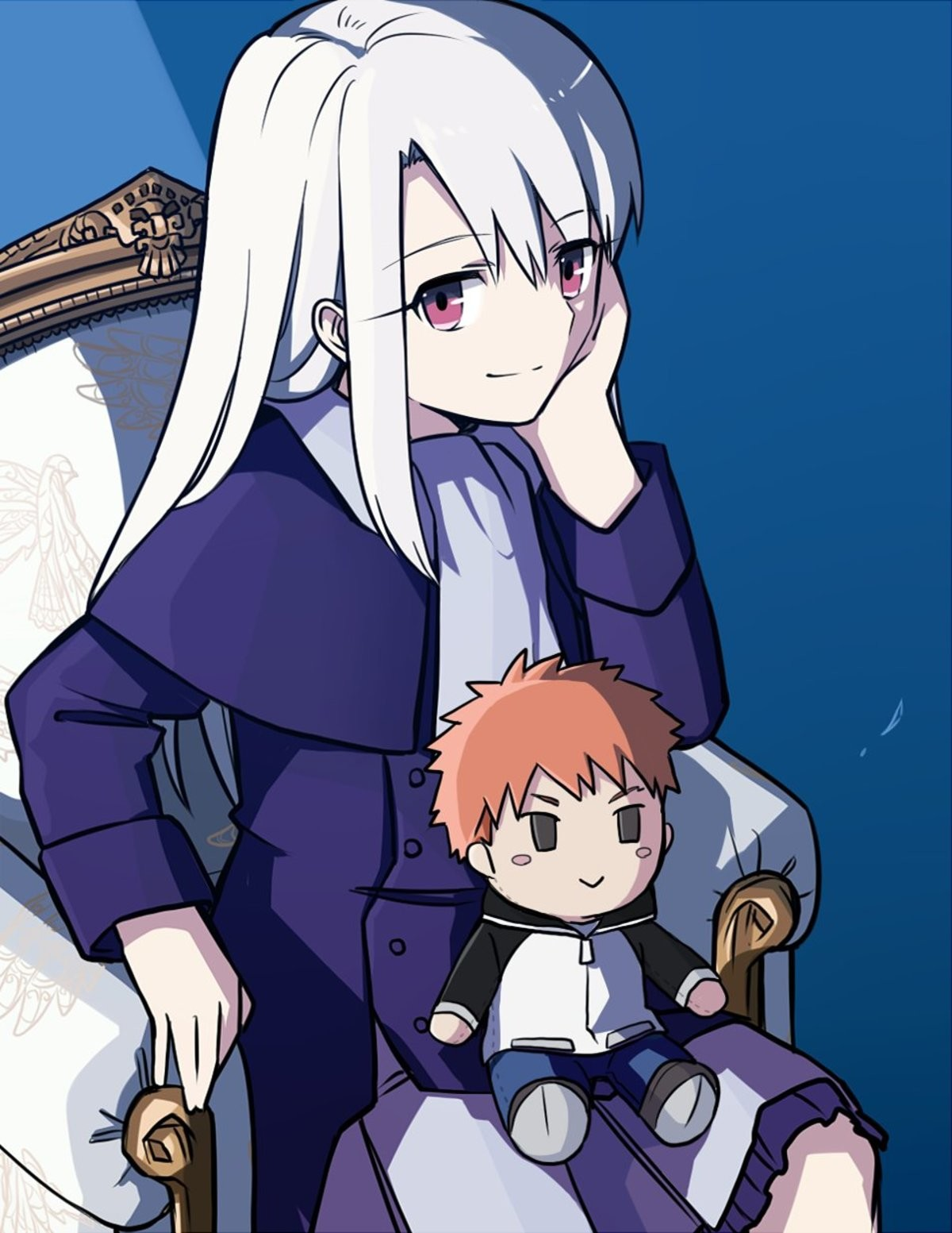 Illya with a doll. ..
