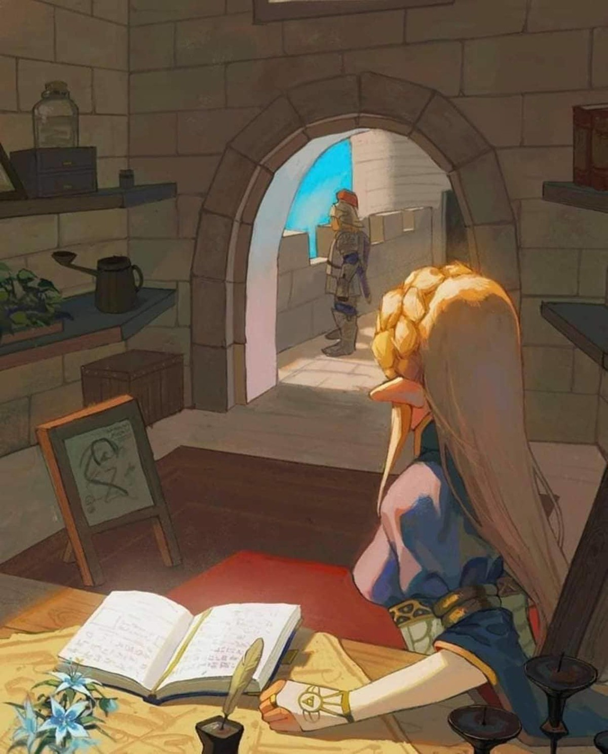 In the castle. .. It's all I can see in Link there.