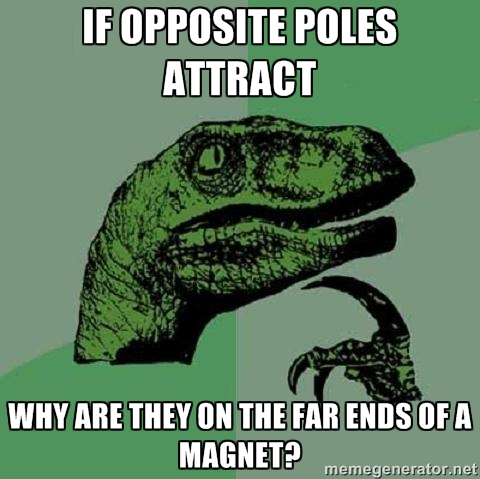 """ing magnets. How do. IE OPPOSITE ATTRACT ARE THEY """" m TAB EMS OF A MAGNET? mm _. The poles are perfectly divided in the middle."""