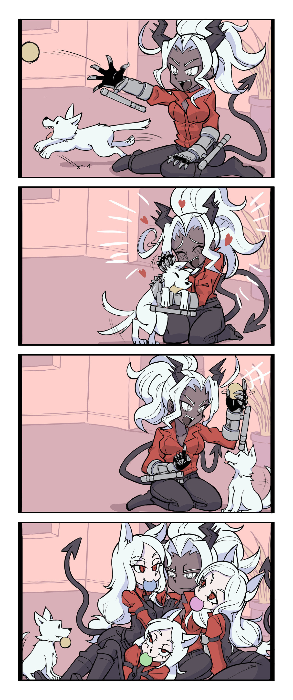 Judgment playing with a Dog. .. Judgement being a secret softie is my favorite. @spadeofaces