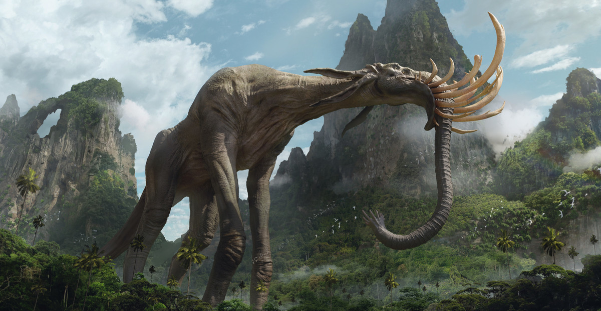 Jungle-Eater by Raymond Chen. .. This needs crazy big occipital muscles or counter balances for viability.