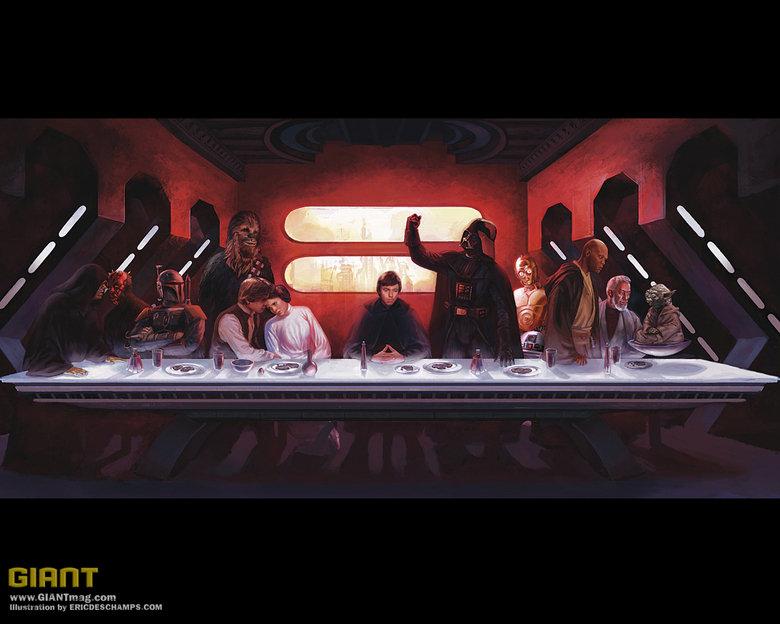 last supper. stars wars last supper.. Darth Maul?
