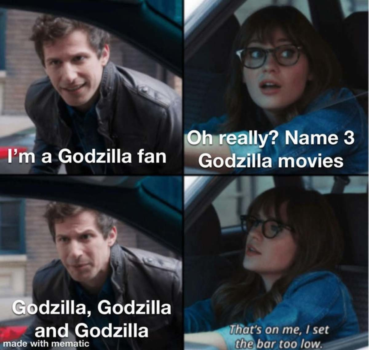lavish Idiots. Not mine, sauce: thistemplateonrmemesandfounditpretty/.. Gozilla VS the Smog Monster, Godzilla: Tokyo S.O.S., Godzilla: Final Wars, Godzilla 2000, Godzilla VS Biolante. I could continue.
