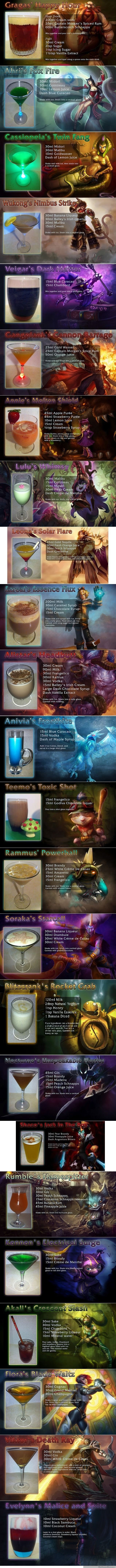 League of Legends Alchamahal Recipes. I did not make this, I take no credit for any of the drink recipes posted, I just want to share Some are non-alcoholic I d