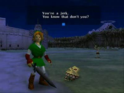 Link's a jerk. and he loves it.