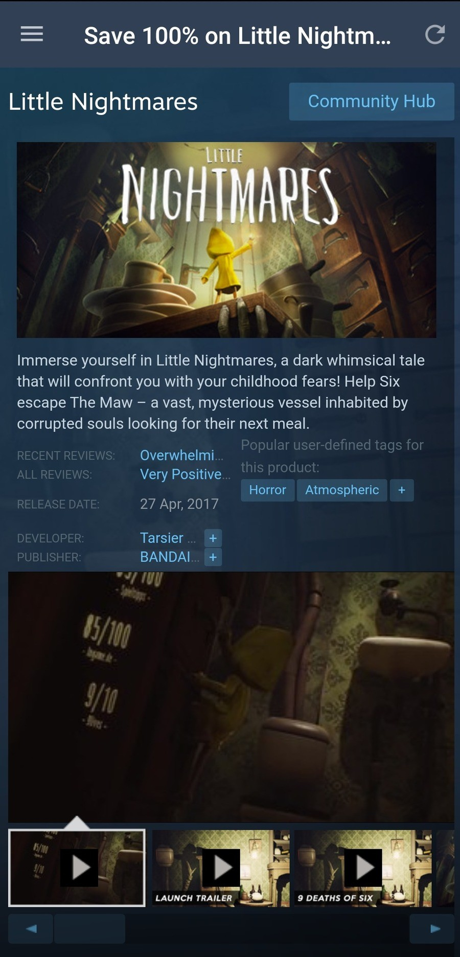 Little htmares for free. .. I remember watching markiplier play this. Is it still really short or did they add more to it?