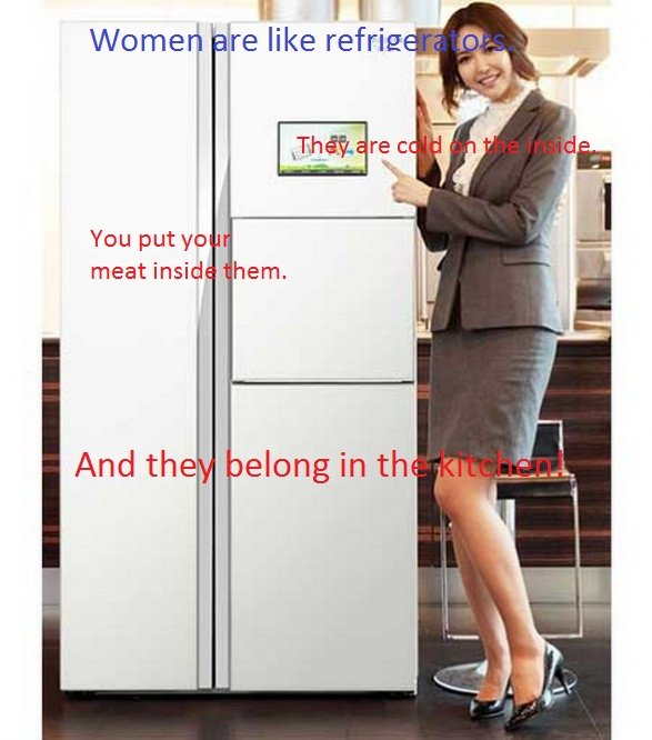 Lol, Women. Ain't it the truth?. Wooed he like refrase You put yo meat inside hem, And the oolong in -
