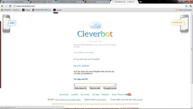 Makes Sense. Conversation i was having with cleverbot, got an answer i was not expecting.. yes clever bot you are ugly and fat anyhting else to say?