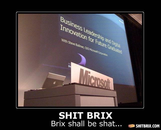 Microsoft Fail. .. That's what happens when Steve Jobs Bill Gates.
