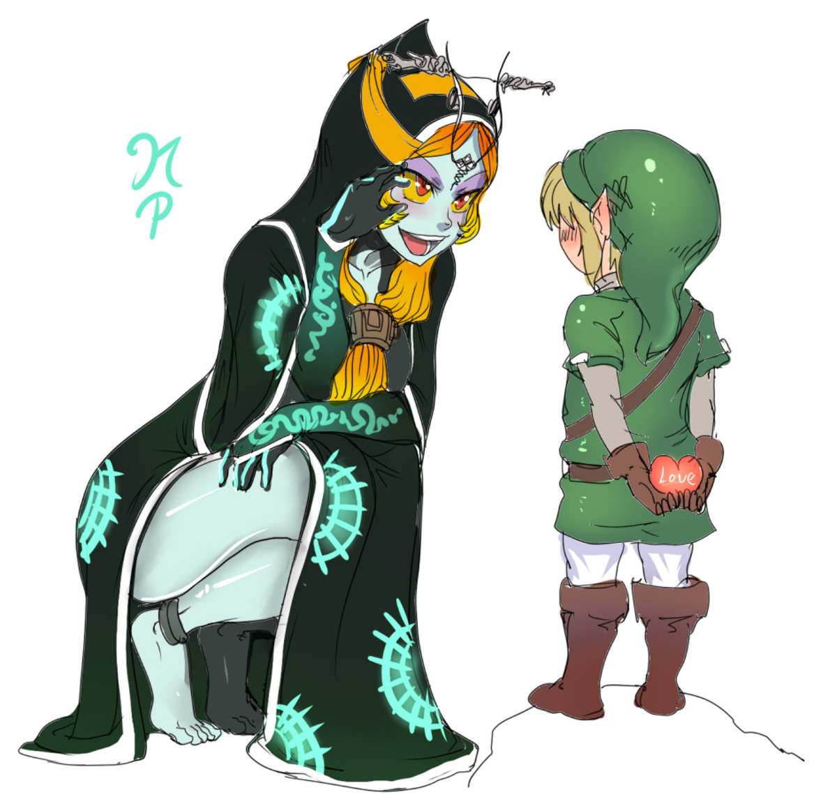Midna and Link by maniacpaint. .. Reminder that best Midna form is a Midna who swaps between both at will to suit your wants