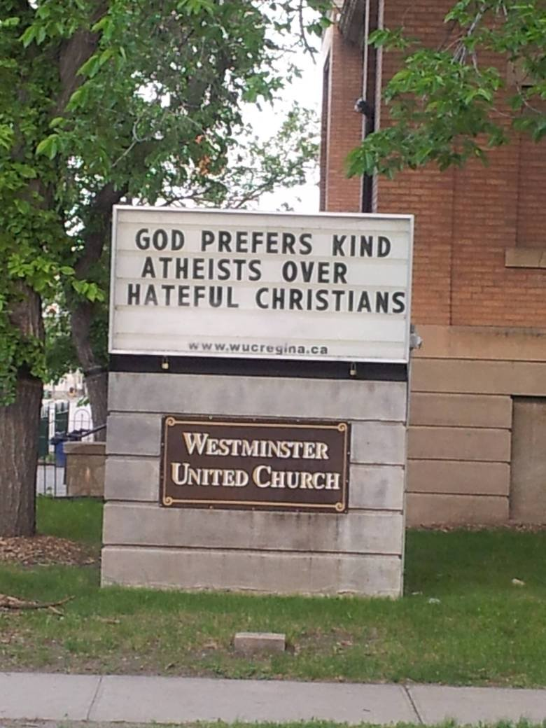 Mmmmm, indeed. Not mine. Found on reddit. Just thought some of you on here would enjoy it.. j, GOD PREFERD KIND ATHEISTS OVER L' ! lla CHRISTIAN. I think we have found something we can agree on.