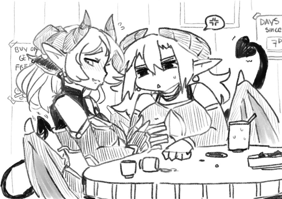 Moonprince random one shots: Shy succubus. >So be me, the girl on the left >I'm a succubus, one of the sexiest gals around my town >W-well that's what
