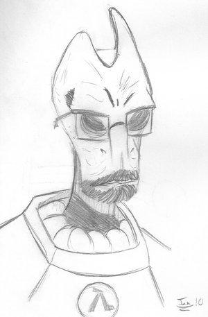 Mordin Freeman. not my artwork.