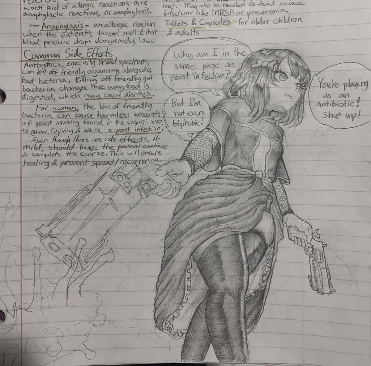"""more note drawings. join list: LeapinLlamaSFW (264 subs)Mention History.. well now I guess you have a response to anyone asking """"where are her organs"""""""