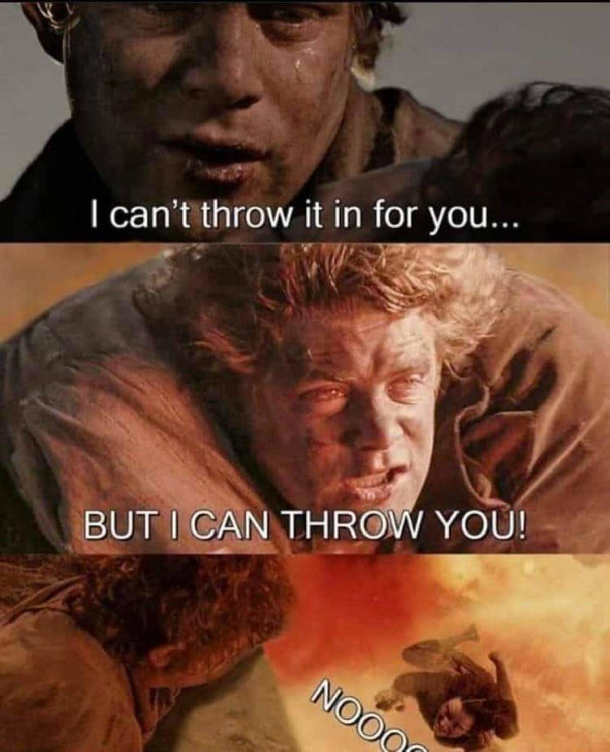 Mr. FRODOOOO. .. Frodo realised too late that Sam was aware he had hit on Rosie Cotton. He came with this journey from the very start to erase the competition.