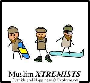 "Muslim Xtremists. not mine, we all know that. Muslim X T REMIS """