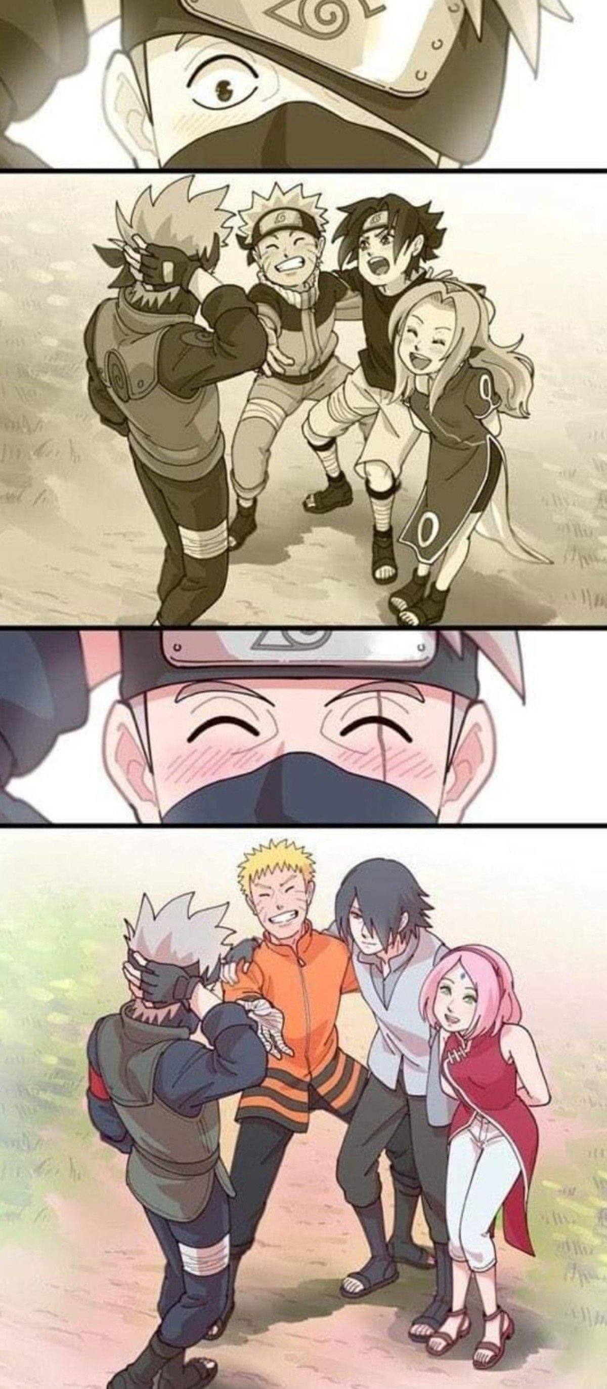 Naruto. .. Its so nice that everyone forgave Sasuke for joining Ninja Isis and destroying the Hidden Leaf.