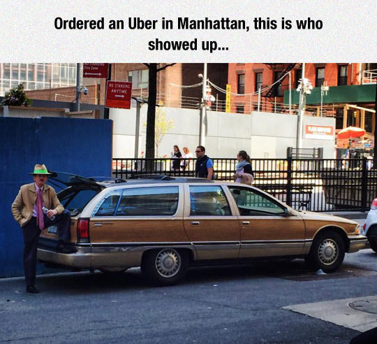 need a ride?. . Ordered an Ulnar in Manhattan, this is who showed up... Ilb. Ail has ,. Wait, so Scatman John is alive and driving uber?