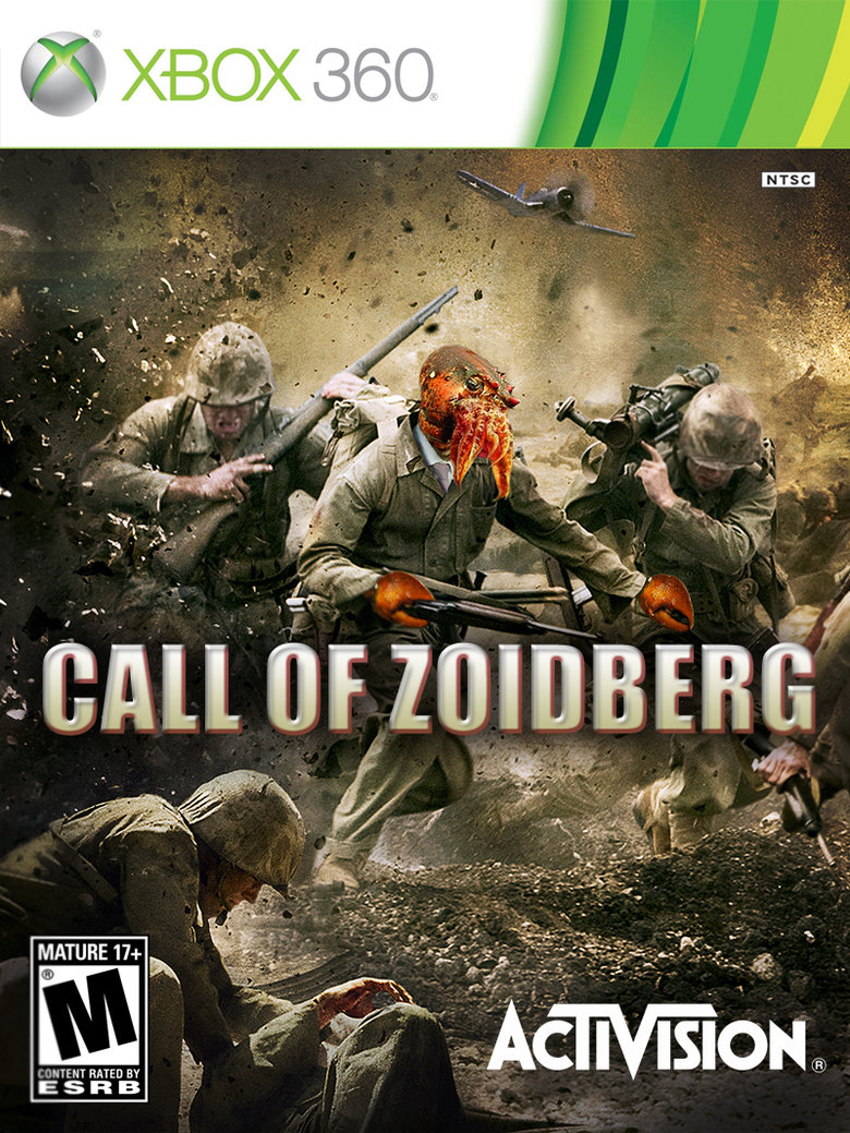"""Need new Call of Duty?. Why not Zoidberg? Original photoshop by me. Thumbs appreciated Also, the tags are correct. MATURE TH RATED """". Melee attack"""