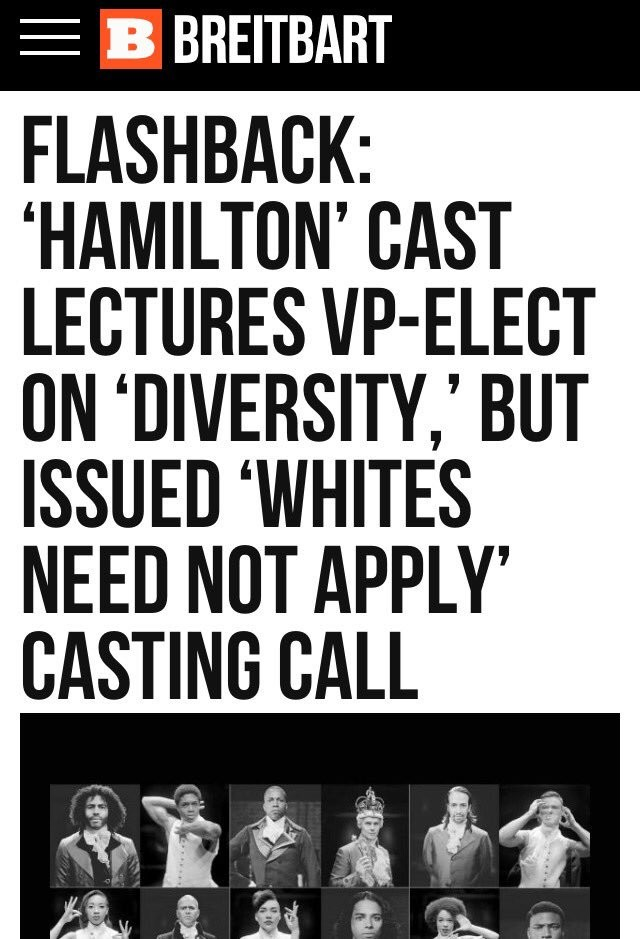 Need not apply. Sorry if this is a repost. FLASHBACK: HAMILTON' CAST LECTURES DIVERSITY,' BUT ISSUED ' NEED NUT APPLY' CASTING CALL. Except it's not an all black cast. Most of the main characters are, but there are several white roles (King George, Eliza Hamilton, a good half of the ensemble)
