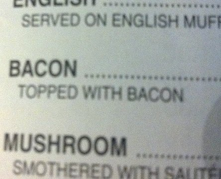 Needs more beacon. .. I want whatever is served on English muff