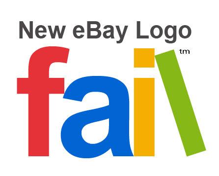 New eBay Logo. New eBay Logo: FAIL.