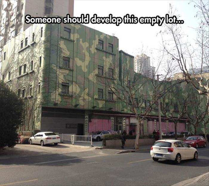 no content. Source: dumpaday. Ill llooll. It's pretty creepy how those windows are just hovering in the air