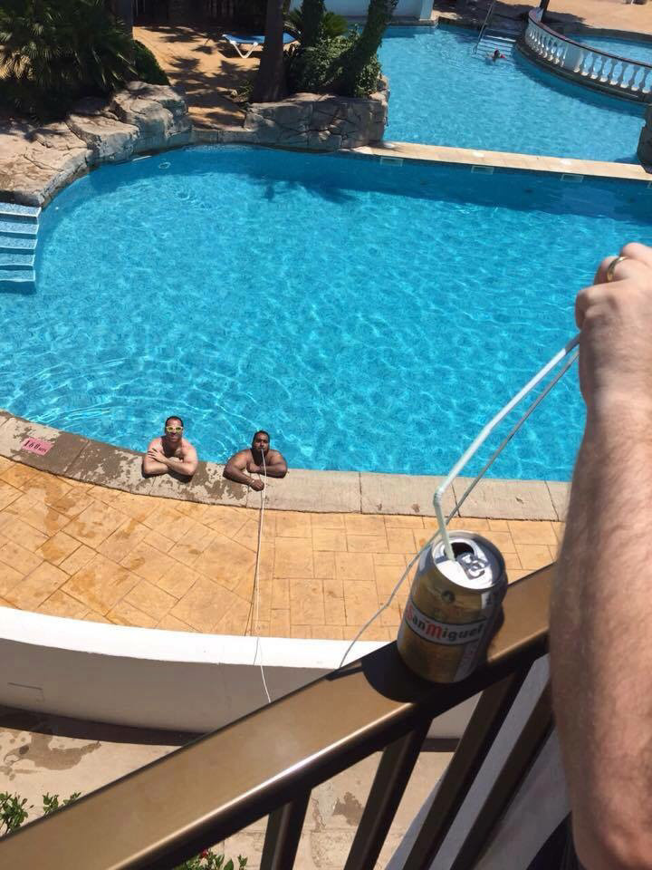 No drinks aloud at the pool:. .. That's a lot of effort.