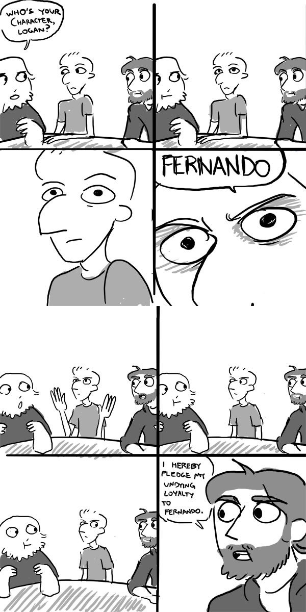 No Explanation Required. Fernando's name strikes fear and awe into the hearts of the weak. These are pages of a comic on noobtheloser.com, called Murder Brother