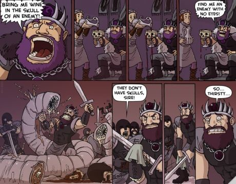 no eyes. .. It's a real shame the majority of the stuff on Oglaf is because it's hilarious