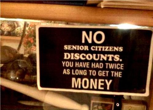 no dicounts. .