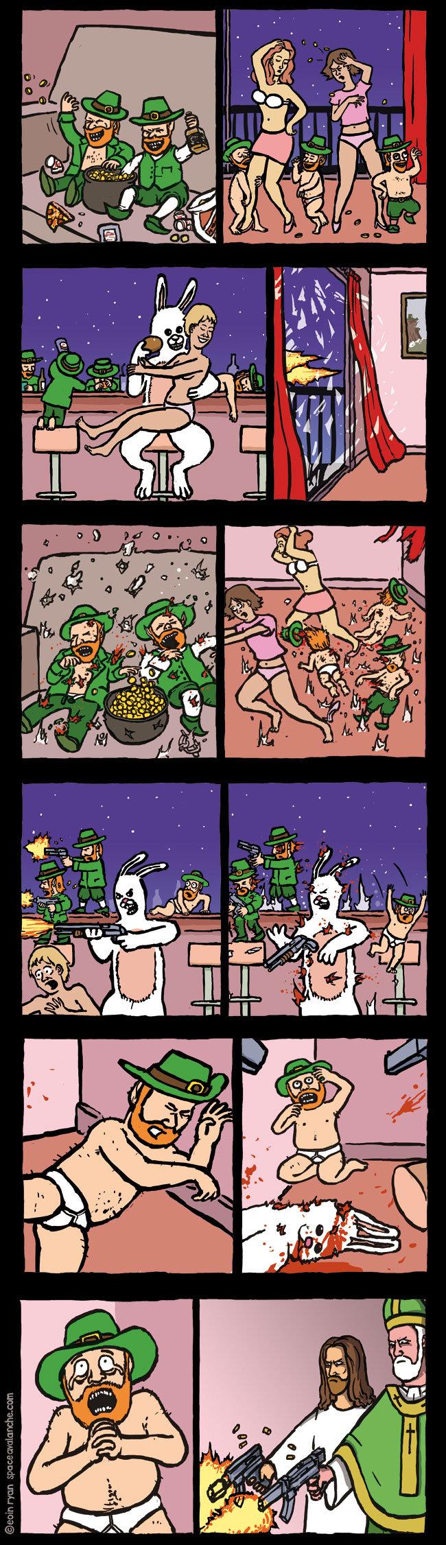 no explination. i have no clue.. (Santa comes in) Santa:HO HO HO where they at?' (fires bullet at santa)