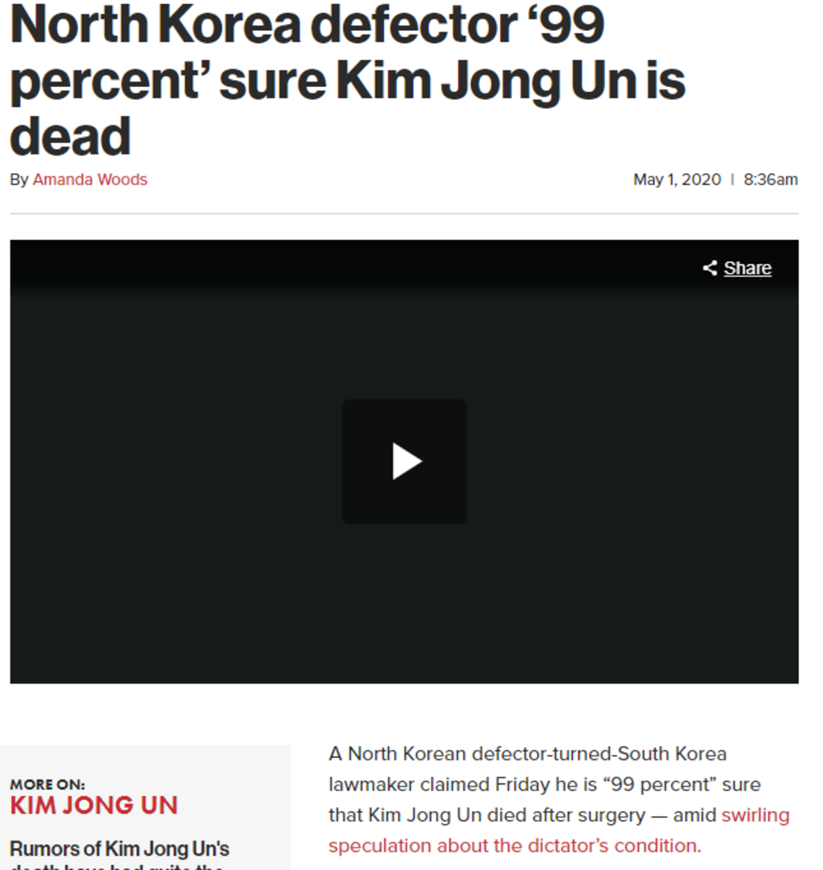 North Korean Defector claims Kim Jong Un is dead. .. We will know when the dust settles. for now they aren't testing nukes so it doesnt matter.