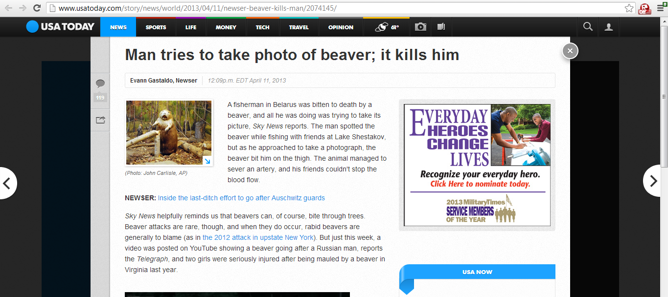 North Korean new military plan: Beavers. i don't even know what to say about this, just, read! original page here with footage of the attack = .