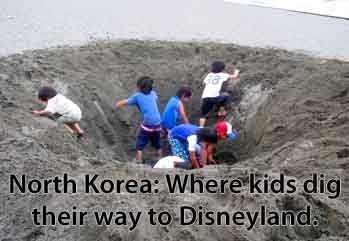 North Korea. Found on omg-facts.com.. are you kidding me? one of those little divided by zero and their trying to get out