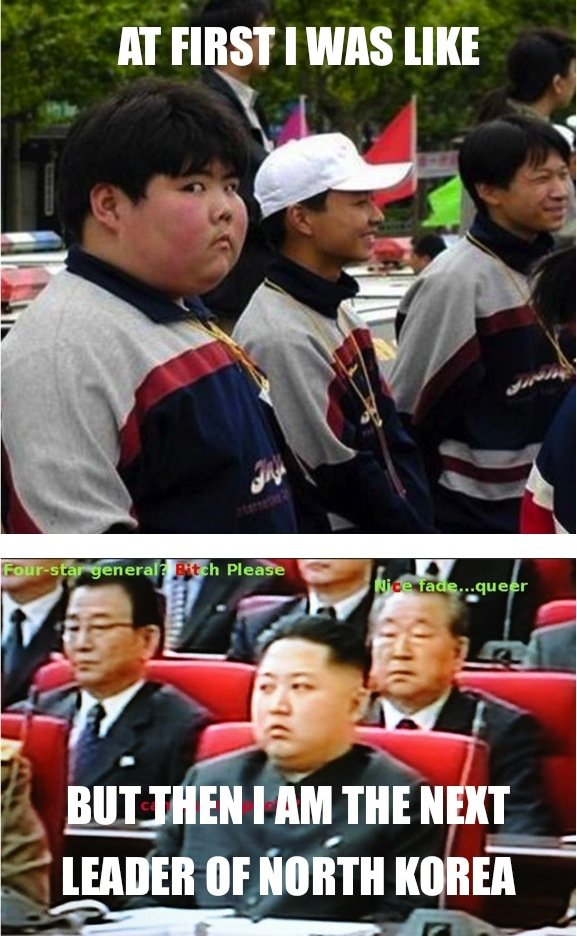 """North Korea. . AT rigs: I was nu: etr, eral' tif"""". first pic looks like a fat Michael McIntyre"""