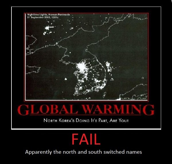 North Korea?. Demotivational picture. Apparently the north and south switched names. ur an idiot