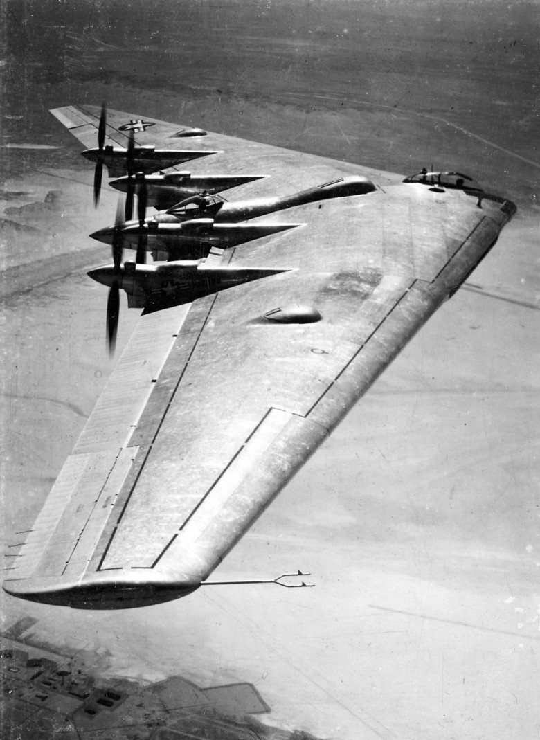 Northrop XB-35. Although the XB-35 was ordered as early as 1941, it was obvious by 1944 that the flying-wing bomber was going to miss World War II and would the