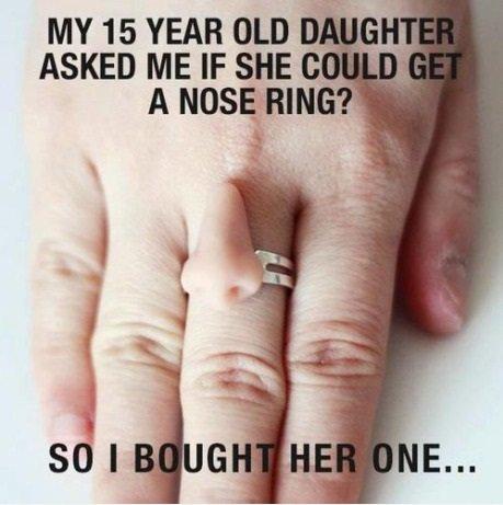 Nose ring. .